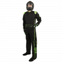 Velocity Race Gear - Velocity 1 Sport Suit - Black/Fluo Green