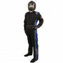 Velocity Race Gear - Velocity 5 Race Suit - Black/Blue - Large