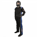 Velocity Race Gear - Velocity 1 Sport Suit - Black/Blue - XX-Large