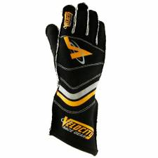 Velocity Race Gear - Velocity 5 Race Glove - Black/Silver/Fluo Orange