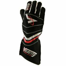 Velocity Race Gear - Velocity 5 Race Glove - Black/Silver/Red