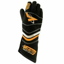Velocity Race Gear - Velocity 5 Sprint Glove - Black/Silver/Fluo Orange