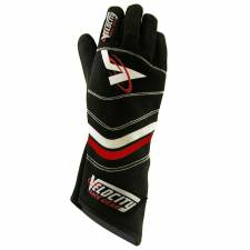 Velocity Race Gear - Velocity 5 Sprint Glove - Black/Silver/Red