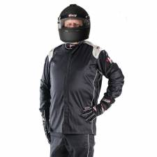 Velocity Race Gear - Velocity Super Stock Jacket Suit (Only) - Black/Silver