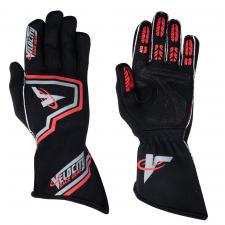 Velocity Fusion Glove - Black/Silver/Red 61019-192