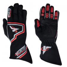 Velocity Race Gear - Velocity Fusion Glove - Black/Silver/Red - Medium