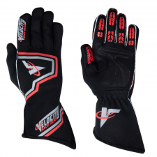 Velocity Race Gear - Velocity Fusion Glove - Black/Silver/Red - Small