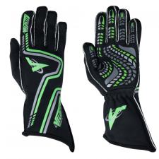 Velocity Race Gear - Velocity Grip Glove - Black/Fluo Green/Silver - Small