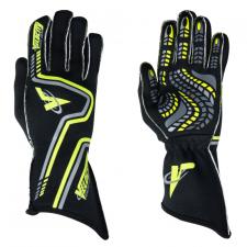 Velocity Race Gear - Velocity Grip Glove - Black/Fluo Yellow/Silver - X-Large