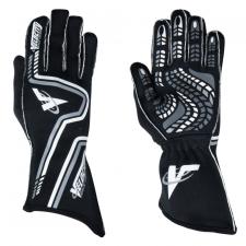 Velocity Race Gear - Velocity Grip Glove - Black/White/Silver - X-Small