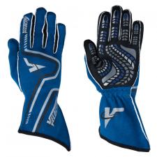 Velocity Race Gear - Velocity Grip Glove - Blue/Black/Silver - Medium