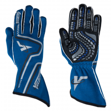 Velocity Race Gear - Velocity Grip Glove - Blue/Black/Silver - Small