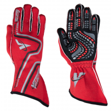 Velocity Race Gear - Velocity Grip Glove - Red/Black/Silver - Medium