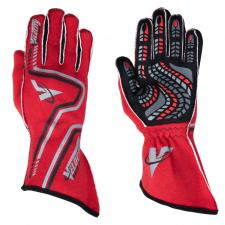 Velocity Race Gear - Velocity Grip Glove - Red/Black/Silver - XX-Large