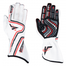 Velocity Race Gear - Velocity Grip Glove - White/Red/Black - Small