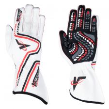 Velocity Race Gear - Velocity Grip Glove - White/Red/Black - X-Large