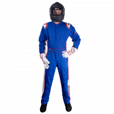 Velocity Race Gear - Velocity 5 Patriot Suit - Blue/White/Red - Large
