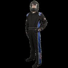 Velocity Race Gear - Velocity 5 Race Suit - Black/Blue - Large