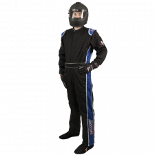 Velocity Race Gear - Velocity 5 Race Suit - Black/Blue - X-Large