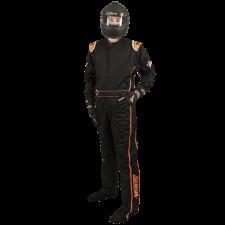Velocity Race Gear - Velocity 5 Race Suit - Black/Fluo Orange - X-Large