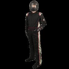 Velocity Race Gear - Velocity 5 Race Suit - Black/Silver - Large