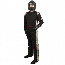 Velocity Race Gear - Velocity 5 Race Suit - Black/Silver - X-Large