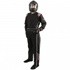 Velocity Race Gear - Velocity Outlaw Race Suit - Black/Silver/Red - Medium