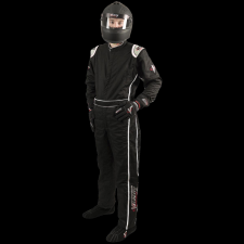 Velocity Race Gear - Velocity Outlaw Race Suit - Black/Silver/White - Large