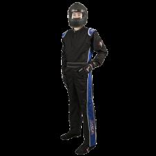 Velocity Race Gear - Velocity 1 Sport Suit - Black/Blue - Medium/Large