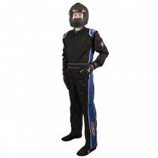 Velocity Race Gear - Velocity 1 Sport Suit - Black/Blue - XXX-Large
