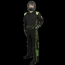 Velocity Race Gear - Velocity 1 Sport Suit - Black/Fluo Green - Medium