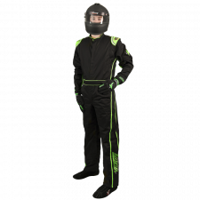 Velocity Race Gear - Velocity 1 Sport Suit - Black/Fluo Green - Small