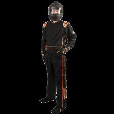 Velocity Race Gear - Velocity 1 Sport Suit - Black/Fluo Orange - X-Large