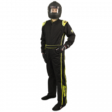 Velocity Race Gear - Velocity 1 Sport Suit - Black/Fluo Yellow - Large