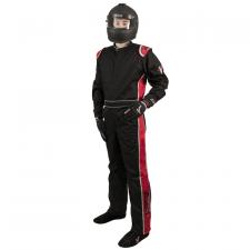 Velocity Race Gear - Velocity 1 Sport Suit - Black/Red - Medium