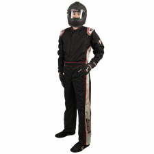Velocity Race Gear - Velocity 1 Sport Suit - Black/Silver - Large