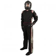 Velocity Race Gear - Velocity 1 Sport Suit - Black/Silver - XX-Large