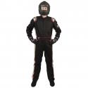 Velocity 5 Race Suit 2018 - Black/Silver 20118-19