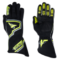 Racing Gloves - Velocity Race Gear - Velocity Fusion Glove - Black/Fluo Yellow/Silver