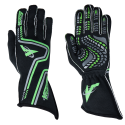 Racing Gloves - Velocity Race Gear - Velocity Grip Glove - Black/Fluo Green/Silver
