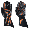 Racing Gloves - Velocity Race Gear - Velocity Grip Glove - Black/Fluo Orange/Silver
