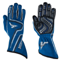 Racing Gloves - Velocity Race Gear - Velocity Grip Glove - Blue/Black/Silver