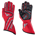 Racing Gloves - Velocity Race Gear - Velocity Grip Glove - Red/Black/Silver