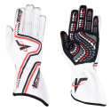 Racing Gloves - Velocity Race Gear - Velocity Grip Glove - White/Red/Black