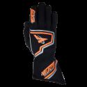 Velocity Race Gear - Velocity Fusion Glove - Black/Fluo Orange/Silver - X-Large - Image 2