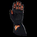 Velocity Race Gear - Velocity Fusion Glove - Black/Fluo Orange/Silver - X-Large - Image 3