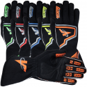 Velocity Race Gear - Velocity Fusion Glove - Black/Fluo Orange/Silver - X-Large - Image 4