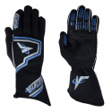 Racing Gloves - Velocity Race Gear - Velocity Fusion Glove - Black/Silver/Blue - Medium