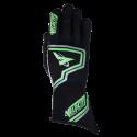Velocity Race Gear - Velocity Fusion Glove - Black/Fluo Green/Silver - Small - Image 2