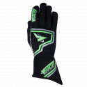 Velocity Race Gear - Velocity Fusion Glove - Black/Fluo Green/Silver - XX-Large - Image 2
